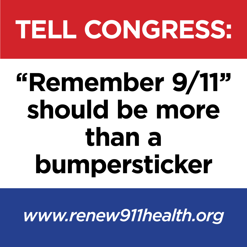 News Articles on effort to renew the 9/11 Health and